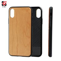 Wholesale mobile cover wood - Universal for iPhone x, slim blank cherry bamboo wood case cover, mobile cell phone plain covers for iPhone 10 x, premium quality hot