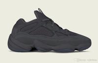 Wholesale fashion utility - Kanye West 500 Desert Rat Moon Yellow Running Shoes for Men Fashion Brand Kanye 500 Spring Utility Black F36640 Sneakers Size Eur 40-46