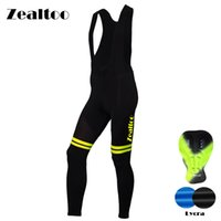 Wholesale dry silica gel - Zealtoo Men Spring Autumn Outdoor Breathable Anti-sweat Cycling Bib Pants Silica GEL Pad Road MTB Bicycle Bike Pants Ciclismo