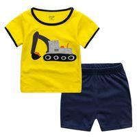 ingrosso vestito da bambino-Abbigliamento per bambini Imposta Abbigliamento per ragazzi di estate Abbigliamento per bambini T-shirt + Pantaloncini Abbigliamento per bambini Abbigliamento per bebè Abbigliamento sportivo