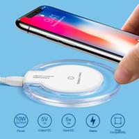 qi drahtlose aufladeplatte großhandel-Crystal Qi Wireless Ladegerät für iPhone X 8 Plus Samsung Galaxy S7 / S6 / S6 Edge Fantasy Ladekissen Universal Power Charging Plate