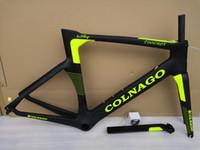 xs kohlenstoff straßenrahmen großhandel-Colnago Concept Carbon Straßenrahmen Carbon Fahrradrahmen Größe XXS XS S M L XL T1000 UD Carbon Fahrradrahmen