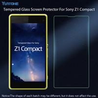 xperia z1 film al por mayor-Para Sony Xperia Z1 Compact Protector de pantalla de vidrio templado 2.5 9H Película protectora de seguridad para Sony Xperia Z1 compacto 50pcs / lot