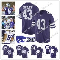 Wholesale Gronkowski Jersey White - Kansas State Wildcats College Football #27 Jordy Nelson 43 Darren Sproles 16 Tyler Lockett 48 Glenn Gronkowski Purple White NCAA Jerseys