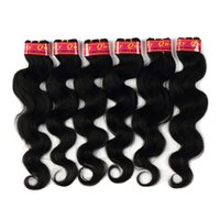 hair color end weave Canada - Body Wave Hair Extensions Color 1b Healthy End 6 Bundles lot 100% Brazilian Human Hair Weaves 12-28 Inches 50g Piece Soft Shiny