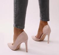 as bombas das mulheres abrem os sapatos individuais venda por atacado-Mulheres Bombas Sexy Aberto Toe Lace Moda Dedo Apontado Salto Alto Novo Estilo Raso Clássico Primavera Outono Sapatos Único Senhoras