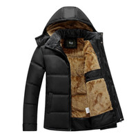 Wholesale down coat linings for sale - NEW Thick Warm Winter Jacket Men Plus Size Jackets Detachable Hat High Collar Outerwearoat Fluff Lining Coats Parka Casual S18101803