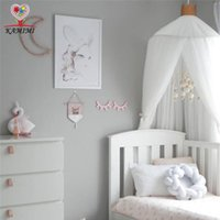 Wholesale cotton mosquito nets - 2017 summer new Baby bed curtain kids Mosquito Net children Cotton Crib Netting baby bedroom decoration photography props