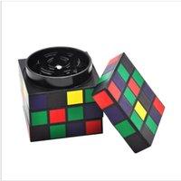 алюминиевый куб оптовых-Алюминиевый сплав материал магический куб форма сигаретная мельница алюминиевый сплав большой диаметр 50 мм прикуривателя