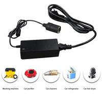 ingrosso presa di alimentazione ac dc-Professione 220V 60W AC a 12V DC Car Power Adapter Converter Accendisigari Presa NERO Spedizione gratuita