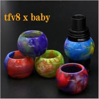 ingrosso vetro epossidico-Tubi a goccia di resina epossidica per tubi di espansione in resina colorata per TFV8 X-Baby Tank Atomizer