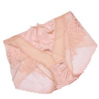 ingrosso vita in pizzo nylon-2 pezzi sexy della maglia trasparente delle donne mutandine a vita alta slip in nylon biancheria intima nuove signore vedere attraverso pizzo donne slip biancheria intima