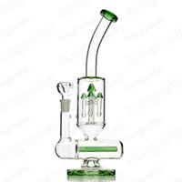 Wholesale recycler 15 for sale - Group buy Glass Bong Rocket tower Percolator double recycler Glass Oil Rig Inch mm female Joint colorful glass water pipes