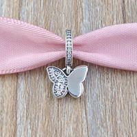 kelebek flutter toptan satış-Otantik 925 Gümüş Boncuk Çırpınan Kelebekler Kolye Charm Avrupa Pandora Stil Takı Bilezikler Kolye Uyar 791844CZ