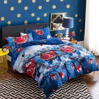 Wholesale cartoon bedding sets for sale - 4 Styles set Happy Christmas Quilt Cover Set Cartoon Children Bedding Sets Santa Claus Xmas Deer D Printed Bedding Sets CCA10484 set