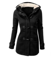 Wholesale Ladies Red Coats Sale - Fashion Hot Sale Women Jacket Clothes New Winter 7 Color Outerwear Coat Thick Girls Clothes Lady Clothing With Hooded Plus size