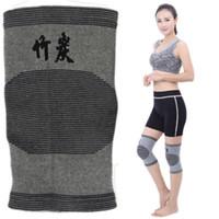 Wholesale Knee Support Leggings - Bamboo Charcoal Knee Wrap Elastic Kneecap Sport Gym Leggings Bamboo Charcoal Leg Slimming Knee Brace Support Protector Pads Free DHL G905Q