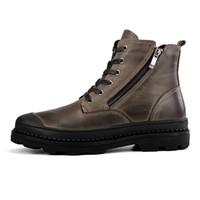 Wholesale Warm Furry Boots - Big Size 38-47 Genuine Leather Winter Boots Shoes Men, Warm Furry Boots Men, Fashion Ankle Snow Boots For Men D30