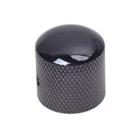 botón de control negro al por mayor-2 PCS de (perilla de control del tono de volumen de la guitarra eléctrica negra)