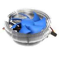 Wholesale 12v fans radiator resale online - 3Pin CPU Cooler Fan Radiator V DC Heatsink Air Cooling Thermal Silicone For Intel LGA775 AMD754 AM2 AM2 AM3