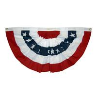 4 juillet achat en gros de-1.5x3 ft imprimé rayures étoiles USA fan plissé banderoles demi fan drapeau drapeau pour le 4 juillet indépendance décoration