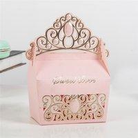 caixas em forma de coroa venda por atacado-10 pçs / set Europeu Em Forma de Coroa Caixas de Bombons para a Cerimônia de Casamento Casamento DIY Baby Shower Favores Do Partido e Caixa de Presentes para Os Convidados