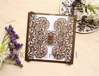 Wholesale Ivory Ornament - Laser Cut Invitation DIY, Chocolate Invitation, Laser Lace Cut, Small ornament, Elegant, Different color available, Brown color
