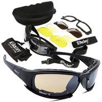taktische linsen großhandel-Sport Radfahren Sonnenbrillen 4 Lens Kit Army Brillen Sonnenbrillen Herren Outdoor Sports War Game Tactical Glasses Protection