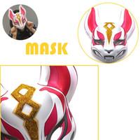 Wholesale fox cosplay for sale - Fortnite Mask Plastic Children Adult Halloween Party Cosplay Headgear Masks Toys Rabbit Fox Fortnites KTV Dress Props ph hh