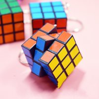 Wholesale key cube resale online - Magic Cube Mini cm Creative Children Puzzle Toys Cute Early Educational Props Kids Gift Key Chain Charms For Decompression cq Z