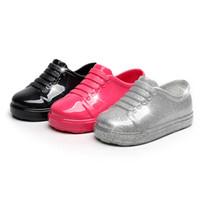 ingrosso scarpe da spiaggia eleganti-scarpe eleganti per bambini eleganti melissa scarpe caramelle in vernice solida cristallo per 1,5-5 anni bambini ragazzi ragazze bagno scarpe da spiaggia