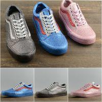 Wholesale hot bling - New Hot Vans Originals VAULT X OC Low Skate Casual Running Sneakers bling bling vamp Blue Pink Grey Lightweight sport Sneakers