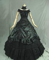 victorian partisi toptan satış-2016 Yepyeni 18th Century Rönesans Viktorya Dönemi Elbise Vampir Parti Balo kadınlar için