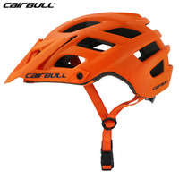 hava kaskları toptan satış-CAIRBULL Bisiklet Kask PC + EPS Ultralight Bisiklet Ayarlanabilir Visor MTB Bisiklet Kask Ciclismo Emniyet Casque Vtt M / L 22 Hava