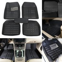 bandeja de arranque al por mayor-Car Styling Interior Auto car floor Foot mat Para Honda toyota bmw Universal 5 Unids Car Floor Mats Para Auto Anti-Slip Mat Rojo Negro