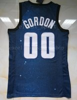 Wholesale quality quick printing - Stitched Navy Blue City 00 Aaron Gordon Jersey Top Quality Printed White Blue Aaron Gordon Jersey Men Basketball Free Shipping