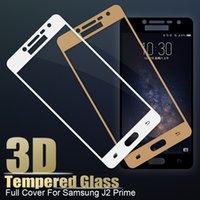 samsung galaxy prime için temperli cam toptan satış-3D Tam Kapak Temperli Cam Samsung Galaxy için J2 J7 J5 SM-G532 G570 G610 Başbakan Cam 9 H Anti Paramparça Tam Ekran Koruyucu Film