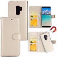flip case für samsung großhandel-2 in 1 abnehmbarer lederner Mappen-Schlag-Fall für neues iPhone 11 X XR XS maximaler magnetischer Abdeckungs-Fall für iPhone 8 7 plus Samsung S9 S10 plus Anmerkung 10