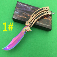 Wholesale Magic Blade Knives - CF Cross Fire original magic butterfly knives flail Hunting Folding Pocket Knife flail knife Survival Knife 1ps freeshipping