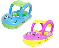 Wholesale kids swim tools for sale - Group buy summer steering wheel sunshade swim ring car inflatable baby float seat boat pool tools accessories for kids toys