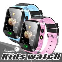 детские часы gps оптовых-Q528 смарт-часы детские наручные часы Водонепроницаемые детские часы с удаленной камеры сим звонки подарок для детей и PK dz09 умные часы gt08 a1l