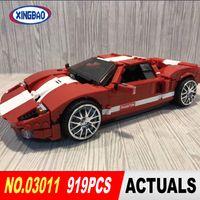 Wholesale phantoms cars for sale - XingBao Block Genuine Creative MOC Technology Series The Red Phantom Racing Car Set Building Blocks Bricks Boy Toys