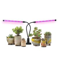 Wholesale adjustable timer - 18W Dual Head Timing Grow Lamp, 36 LED Chips with Red Blue Spectrum for Indoor Plants, Adjustable Gooseneck, 3 9 12H Timer 10 Dimmable Level