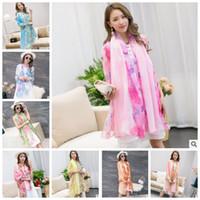 Wholesale chiffon neck scarves - 200*150CM Women Lady Chiffon Print Neck Scarf Shawl Sunscreen Shawl Female Spring and Summer Scarf Flower Beach Scarf KKA4359