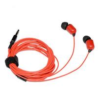Wholesale iphone ear plugs - 3M 10FT Earphone Wired In-ear Headphone Universal Headset With Microphone 3.5MM Plug Sport Running Headphone