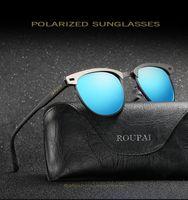 Wholesale choice metals - High quality UV400 Sunglasses man Polarized Sunglasses Men Driving Lens Metal Polarized Sunglasses 4 colors for choice with packing NE880