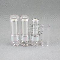 Wholesale lips mold resale online - LP4529 clear lip stick container mm mold empty lipstick round bottle color cosmetic packaging