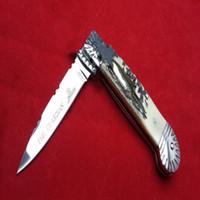 ingrosso coltelli hubertus-Hubertus Solingen guardiano antler maniglia campeggio Raccolta coltelli da caccia coltelli copie 1 Pz freeshipping