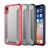 pc ip telefon großhandel-Für ip xs max case hybrid weiche tpu stoßstange pc rückseitige abdeckung phone cases für ip xr xs max ungebremste shell