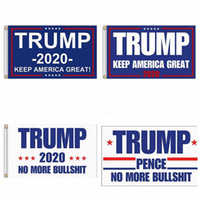 Wholesale more america - 90*150cm Trump 2020 Flag Printed Donald Flags Keep America Great Again Polyester Decor Banner pence no more bull shirt flag free ship
